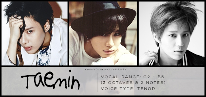 Shinees Vocal Analysis Taemin K Pop Vocalists Vocal Analyses